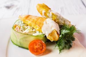 Куриное филе в соусе Блю Чиз (2)